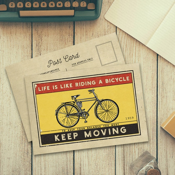 1. Life is like riding a bicycle